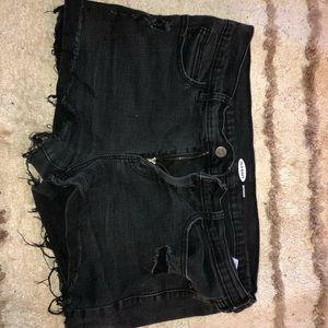 boyfriend style black shorts
